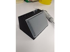 Angled PCR Plate holder with tube rack
