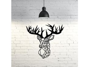 Deer Wall Sculpture 2D
