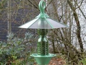 the green bird feeder