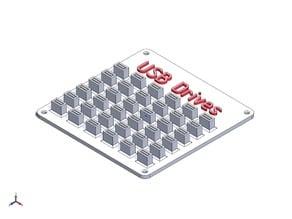 USB drive storage plate / Флэшечная v.2