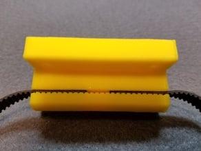 Prusa I3 Y Belt Holder 4 bolt mounting for 6mm GT2 Belt