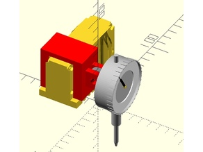RepRap Mendel Dial Indicator Gauge Attachment Bracket