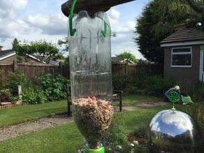 Hanger for Bird Feeder (with soda bottle thread)