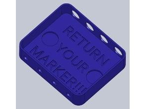 Dry Erase Marker Holder (with magnet slots)