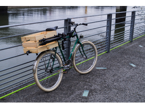 Wooden box Ikea mount for bicycle