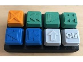 Mini PC keyboard 8 keys Cherry MX