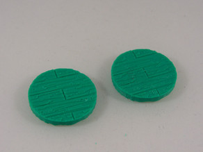 25mm Wooden Plank Base for 25-30mm Miniature Games
