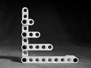Customizable Straight Beam for LEGO Technic