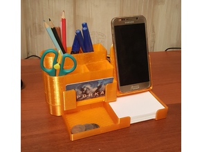 All-In-One Desk Organizer: pencil holder with wireless charging phone stand V2