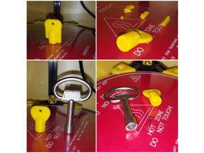 Triangular socket key 8 mm for locks, electrical Cabinet, Elevator, subway cars and trains. V1