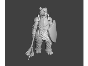 Bear Knight Miniature