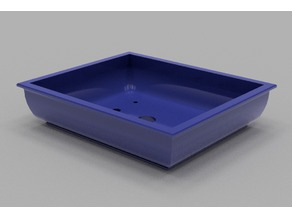 Rectangular, traditional, bulbous Bonsai Pot - No Support Print