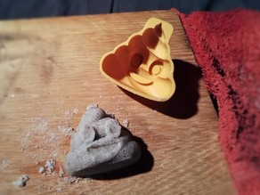 Pile of Poo Emoji cake / cookie / sand mold