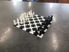 Puzzle Chess/Checker Board