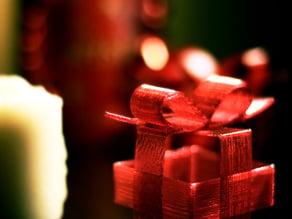 Ribbon Christmas present