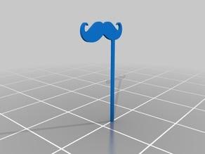 #MovemberEdu moustache with stick