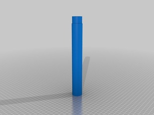 Reprap Morgan pipe 32mm OD 27mm ID 459mm long