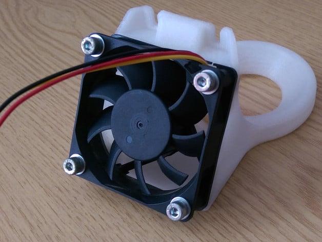 E3Dv6 Carriage Fan Duct for NopHead Mendel90 (dibond)
