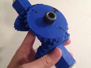 Prototype differential for the end effector interface of a robotic arm