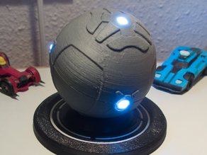 Rocket League ball with LEDs and stand
