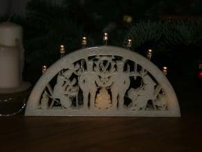 printable candle arch - druckbarer Schwibbogen