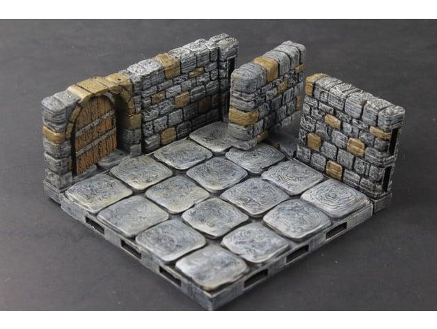 OpenLOCK Dungeon Stone Secret Doors by devonjones - Thingiverse