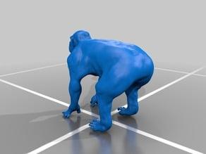 Chimp Zbrush Sculpture