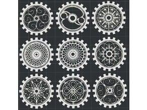 Gears V2 2D Wall Art