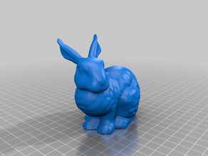 Stanford Bunny repaired with Netfabb