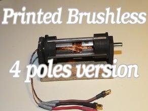 Printed Brushless Motor 4 poles