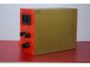 Lab power supply enclosure, box (Vertical)