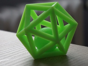 Icosahedron with ball inside