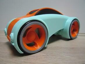 Dual Mode Windup Car with windows.
