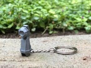 Low Poly Beldum Keychain