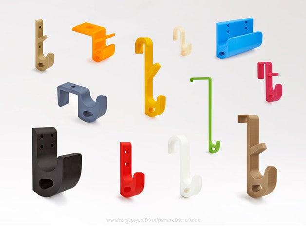 Design Hooks customizable u-hooksergep - thingiverse