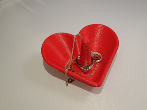 Heart Shaped Jewelry Bowl / Ring Holder