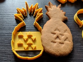Cookie cutter - Pineapple - Works super easy, great results