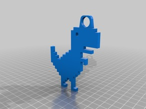 google chrome t-rex key chain