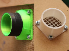 Tube Adapter Flange with Optional Grating (Parametric)