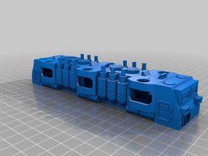 WARHAMMER 40K Armored train BIGGER loco - 18 mm scale - 1:87 HO gauge
