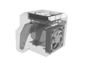 CR-10 40mm Fan x 2 Block Style Hotend Fangs Mount