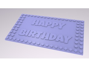 Brick Toy Customizable Birthday Card