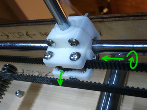 The banana XY bushing block and belt tensioner. Drop in replacement for the ultimaker