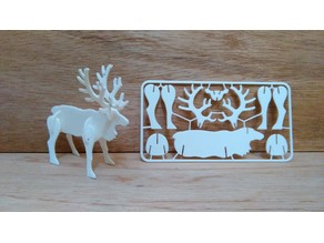 Reindeer christmas card kit 3d print