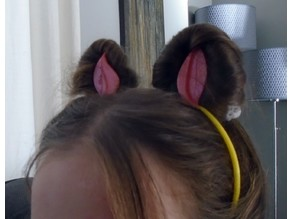 Cat Ears using your own hair