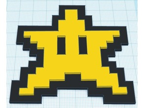 Mario 8-bit Star Powerup (Color Raised)