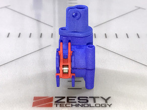 Mockup of the Zesty Nimble V1: Lightweight direct drive extruder