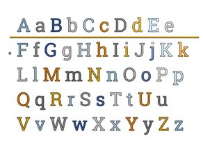 Serif Font Letters 20 mm for Resizing and Scaling with Fixation