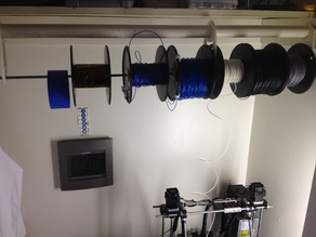 Filament Spool Rack - hangs from a Closet Clothing Rod