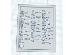 Morse code keychain